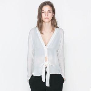 Zara Studio cream blouse